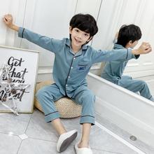 トン自宅で綿の大きな男の子の男の子の秋と冬服を印刷子供のパジャマ春と秋の綿の長袖のスーツの薄いセクション
