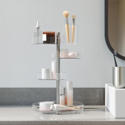 Umbra 旋转置物架化妆品口红收纳盒梳妆台桌面护肤品收纳架子