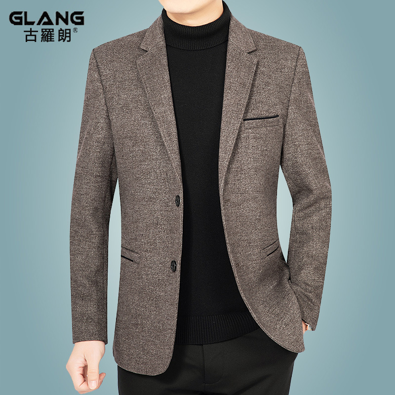 Middle aged mens woollen jacket jacket casual mens suit