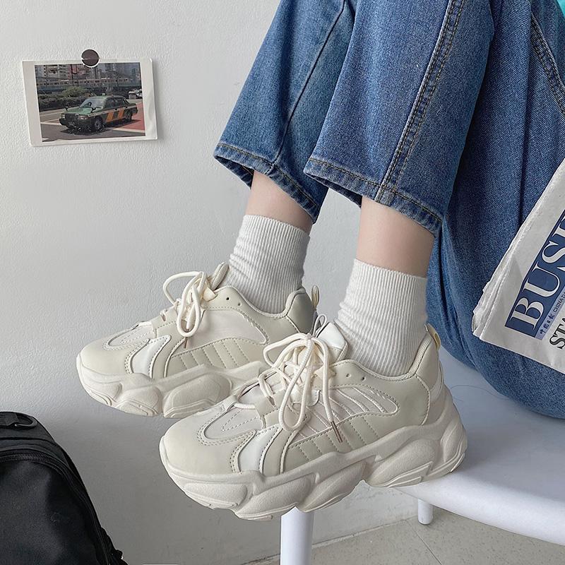 网红厚底老爹ins潮新款百搭跑步鞋质量靠谱吗