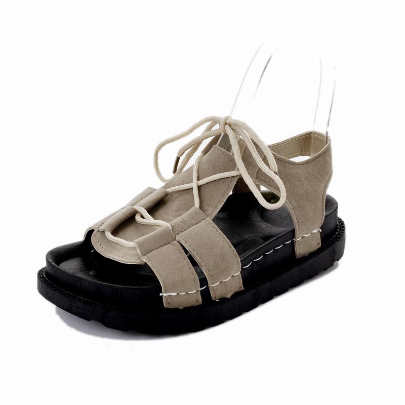 交叉綁帶沙灘羅馬鞋