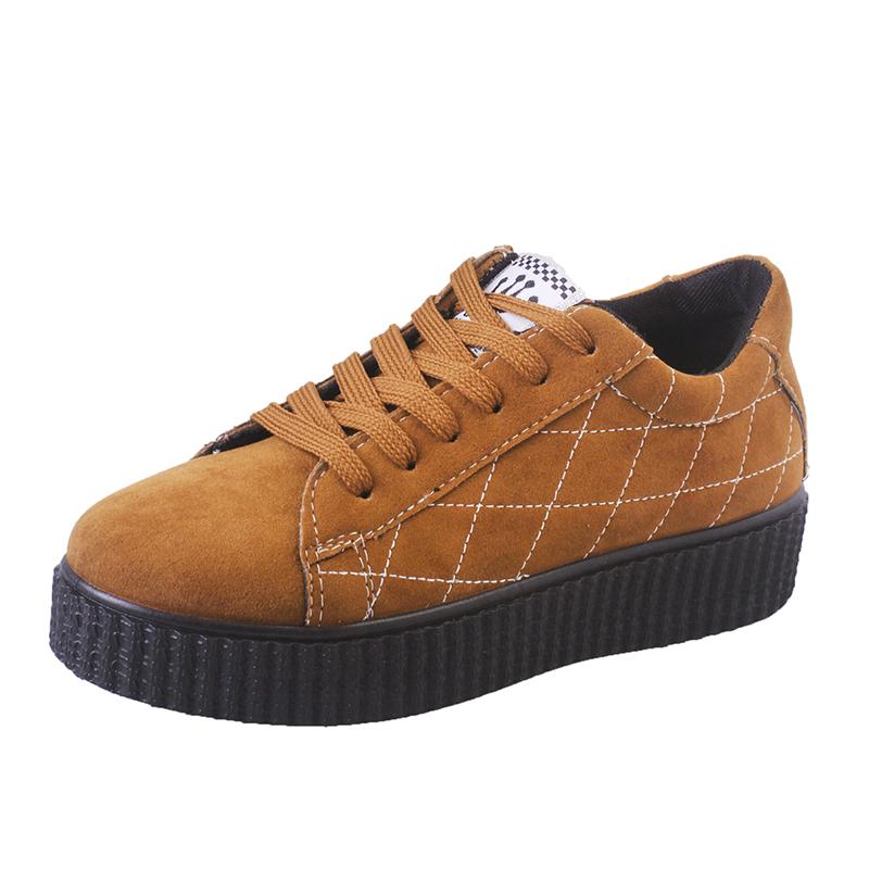 2016  鞋女 鞋厚底鬆糕板鞋跑步鞋 學院風女鞋子