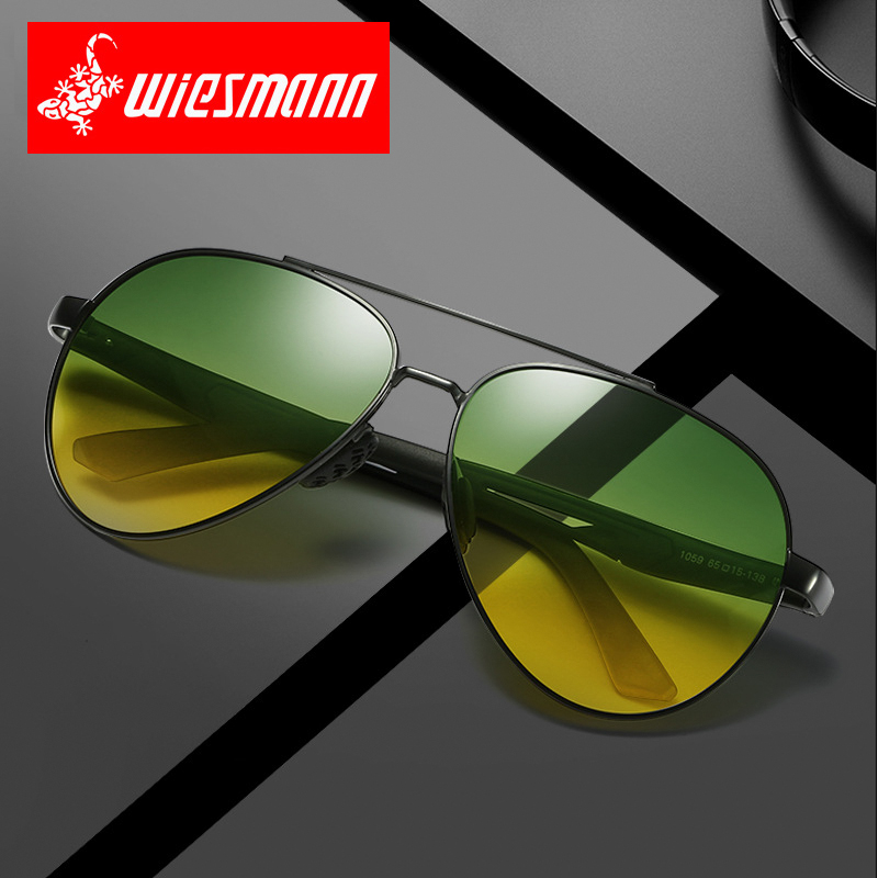 Day and night driving polarizing sunglasses male Sunglasses driver anti high beam night vision glasses special for driving