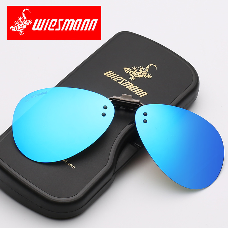 Weizman polarized male and female Sunglasses clip type myopia Sunglasses toad driver driving night vision driving glasses