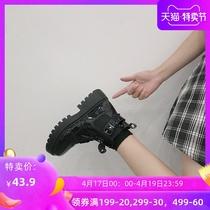 CKL41DD9秋冬切尔西短靴女褶皱休闲皮靴2019天美意商场同款