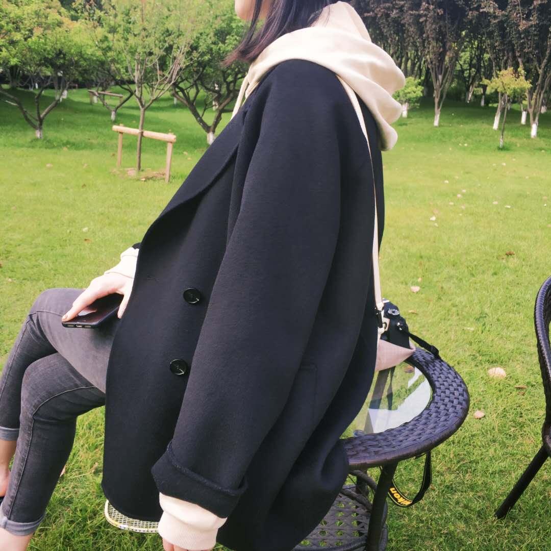 Meidaihua East Gate small anti season double face cashmere wool coat little girl short woolen coat