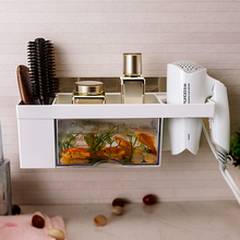 Bathroom Blower Rack Drilling-free Bathroom Blower Placement Rack Electric Blower Receiving Rack Wall Hanging Wind Cylinder Rack