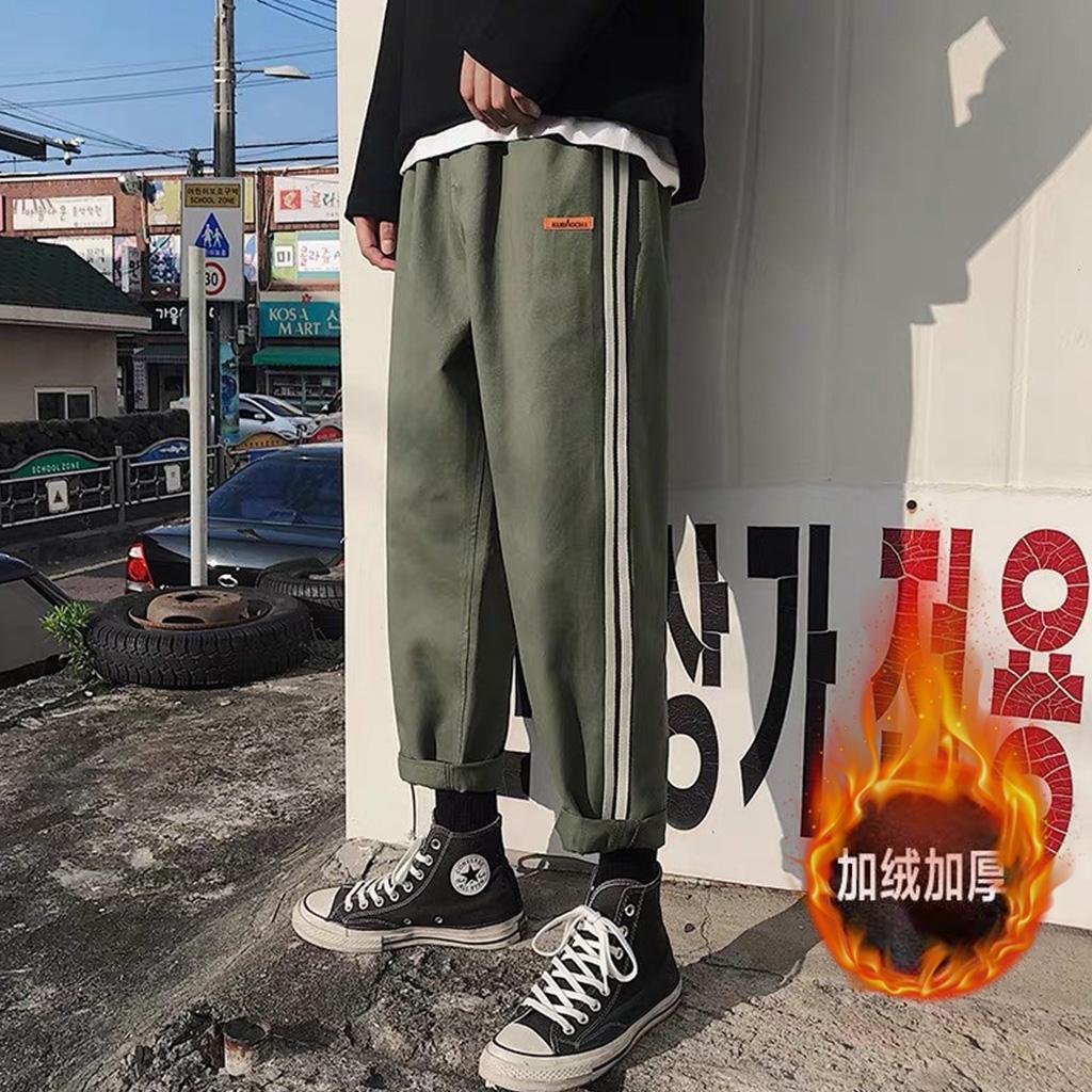 点击高加绒加厚休闲裤直筒裤B342-K6318-P45常规P35