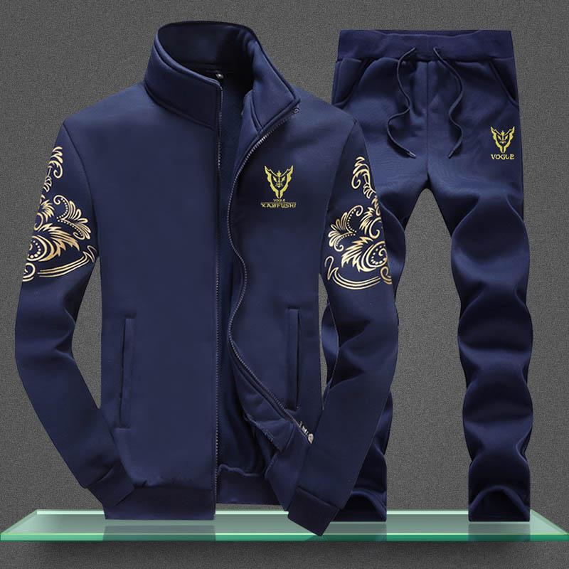 运动套装男士2020春秋季新款韩版潮流外套网红休闲加绒卫衣运动服
