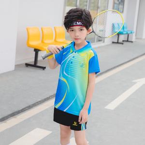 竞迈儿童羽毛球服套装乒乓球网球服