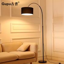 客厅落地灯北欧实木置物客厅美式卧室带桌现代简约立式台灯床头灯