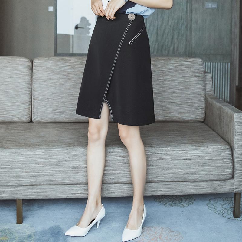 2020春装新款高腰雪纺职业半身裙女韩版女士一步群显瘦大码包臀裙