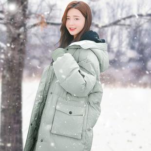 爆款面包羽绒棉服女中长款2019年新款潮韩版宽松棉衣棉袄外套冬季品牌