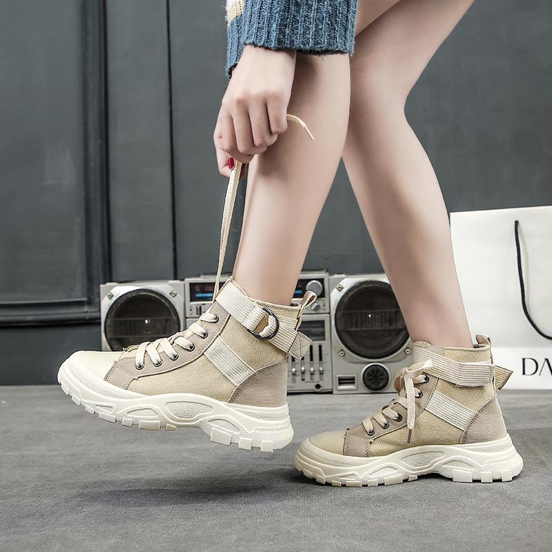 马丁靴女英伦风2019新款潮时尚百搭网红加绒棉鞋短靴女春秋单靴子