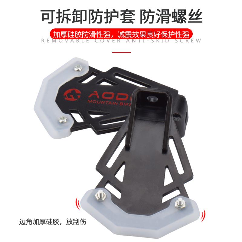 快拆山地车折叠自行车后座脚踏板骑行装备脚蹬可站人单车零配件