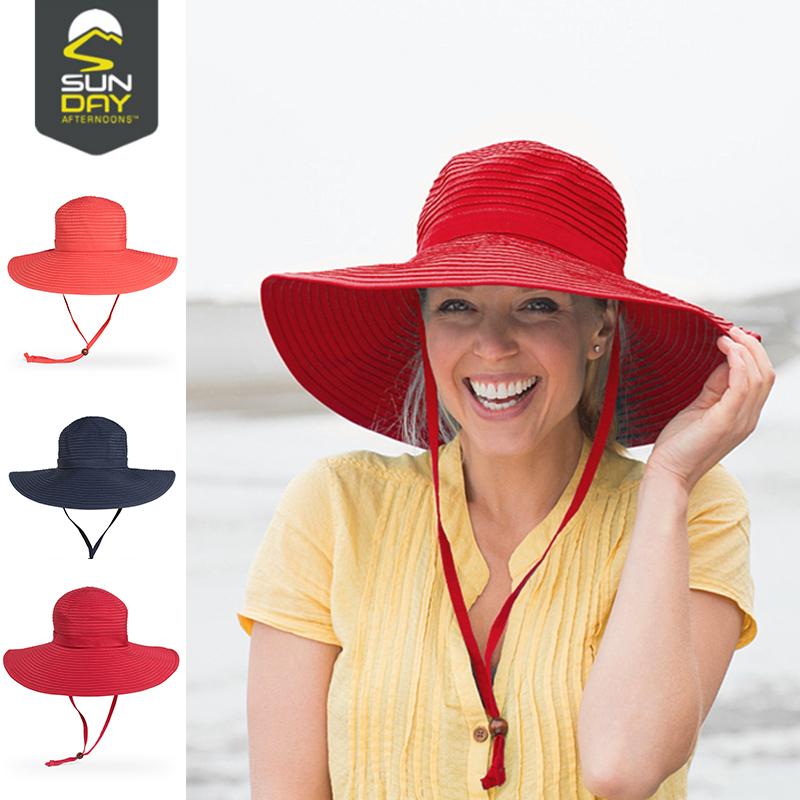 Sunday Afternoons帽子女夏天遮阳帽户外防晒防紫外线遮脸太阳帽