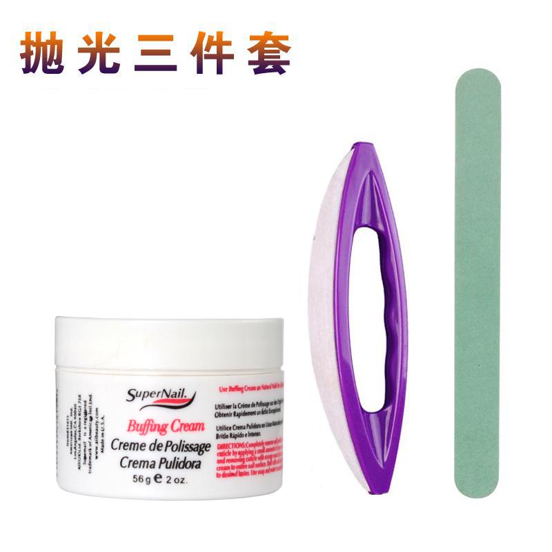 Nail polish wax nail care after nail removal wax tool sheepskin filigree strip sanding strip waxing brush set