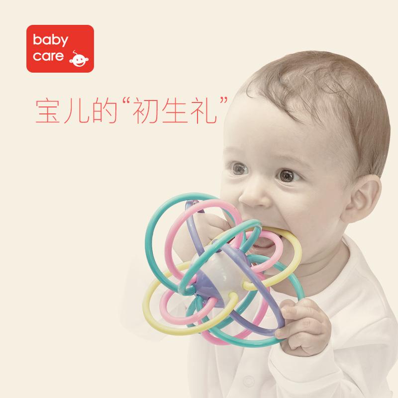 Babycare ребенок прорезыватель молярный палка укусить клей 6-12 месяцы ребенок головоломка игрушка человек хохотать дейтон сцепление мяч