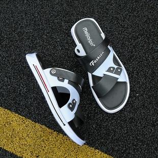 两用镂空青少年沙滩鞋 男2020新款 外穿开车拖鞋 男士 夏季 凉鞋 休闲鞋