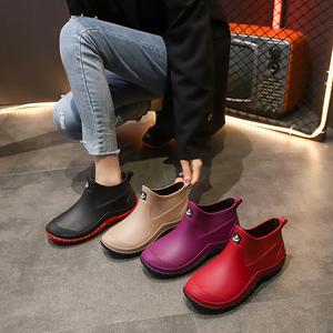 雨鞋女时尚款外穿软底冬季加绒胶鞋防水防滑水鞋雨靴短筒新款水靴