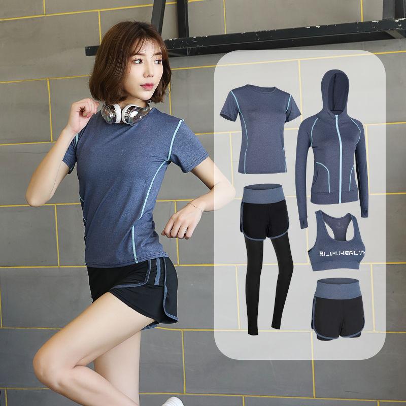 网红瑜伽服运动套装女秋冬款健身房跑步健身套装速干衣专业健身服图片