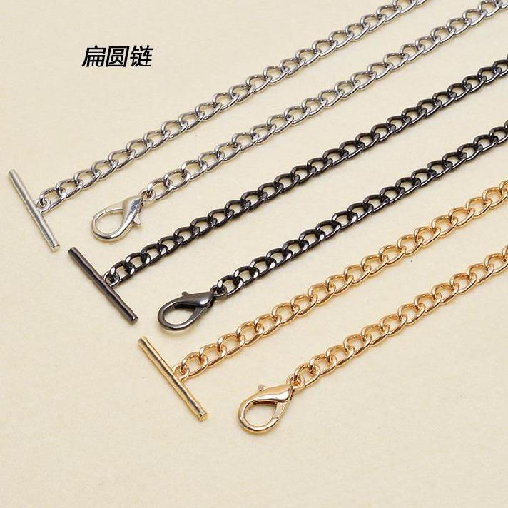 High grade shoulder chain detachable buckle short P belt color off bag womens hand carrying strap electroplating middle hanging hardware luxury