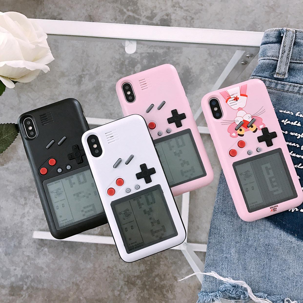满68.00元可用48.01元优惠券ins网红粉红豹X游戏机iphone 8plus俄罗斯方块手机壳xs Max苹果