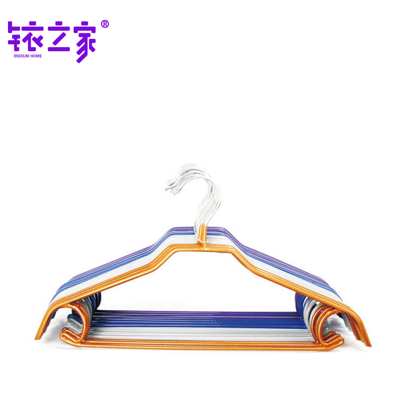 Yj8003 iridium home clothes rack, dry and wet, indoor and outdoor dip plastic antiskid and traceless clothes hanger, clothes hanger, clothes hang