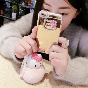 苹果6手机壳女奢华硅胶iPhone6s手机壳日韩创意镜面6plus水钻挂绳
