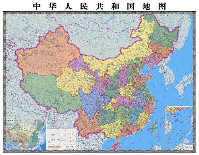 中国世界地图各省高清电子版政区图事业单位装饰学校覆膜防水制作