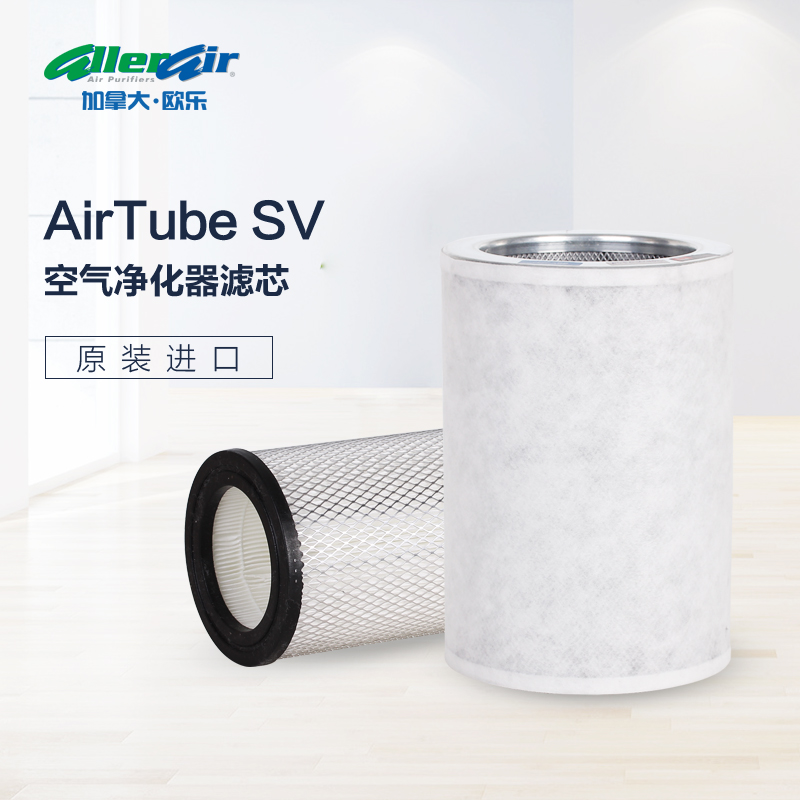 Formaldehyde removal by air tube SV filter element in household bedroom