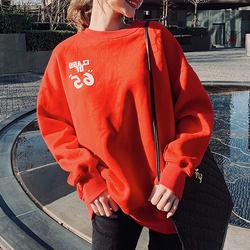 欧洲站2020秋季新款重工卫衣女宽松时尚红色卡通洋气欧货潮亮片上
