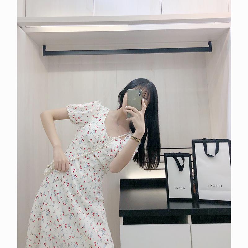 小碎花连衣裙小清新雪纺仙女裙chic温柔小个子智熏裙法式桔梗裙满158.00元可用1元优惠券