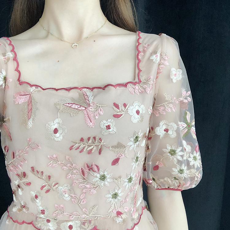不包邮chic温柔小个子法式桔梗仙女仙女裙