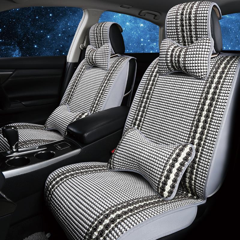 定制荣威E90汽车座套专车专用四季通用伊利全包布座垫春夏座椅套
