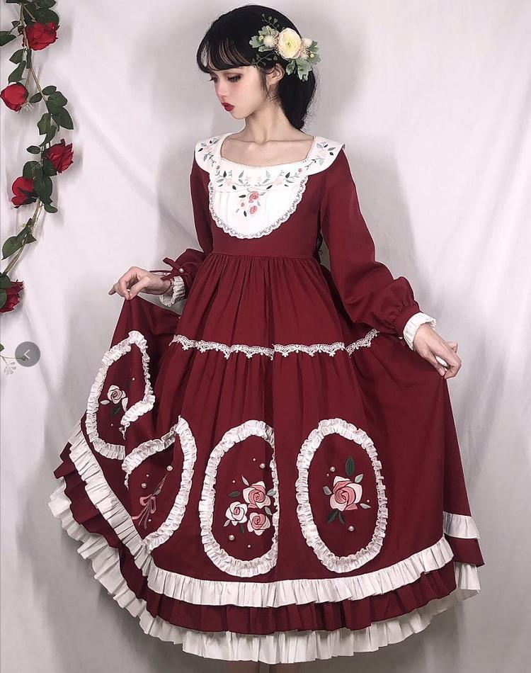 【三花猫lolitaオリジナル】カミリアのスカート本体の補助ページは、予約なしで撮影してください。