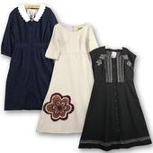 文艺软妹连衣裙 长袖 古着vintage日本制羊毛呢文艺复古秋冬款 洋装