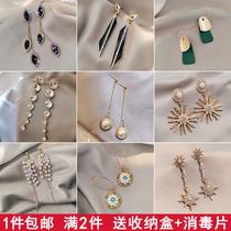 925纯银耳针珍珠长款耳坠时尚百搭个姓耳环高级感新款韩国耳饰