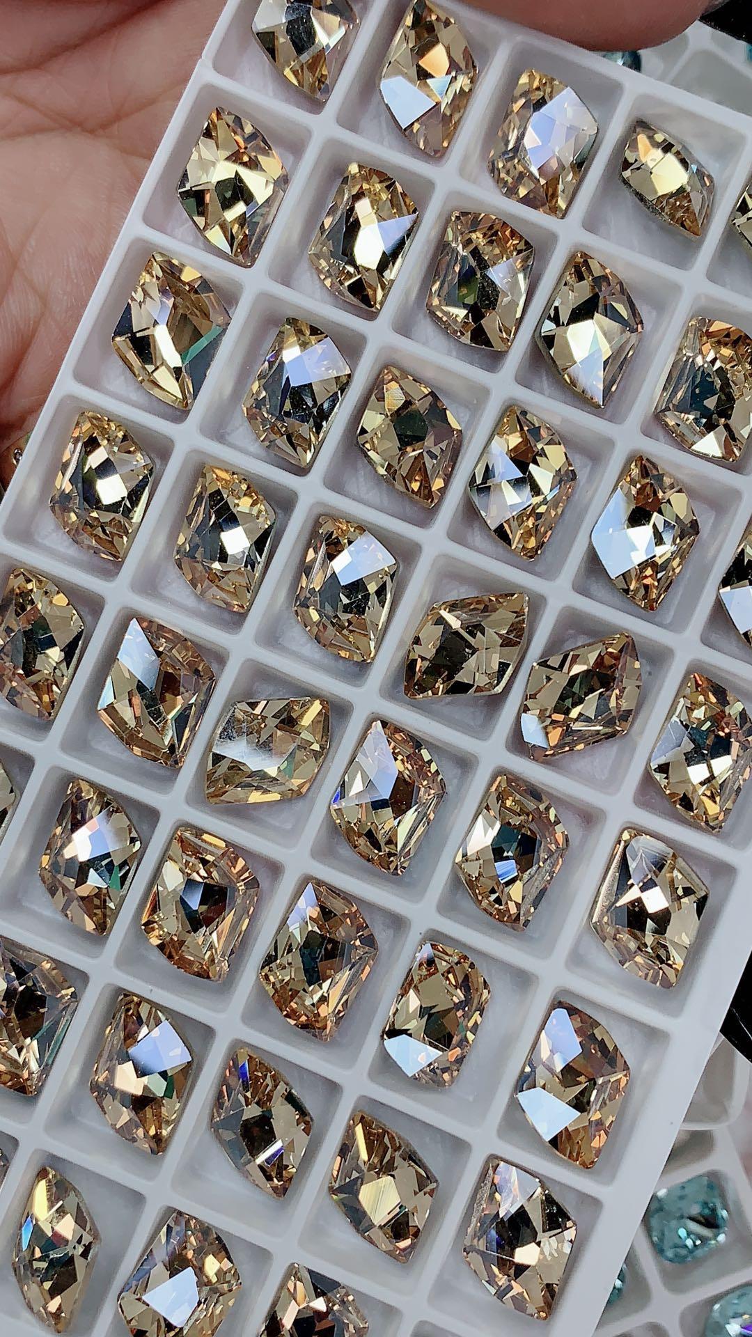 F施华洛水晶同款 美甲尖底大颗 精品材质 尖底奢华