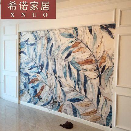 北欧ins风艺术壁纸现代简约无纺布墙纸定制电视背景墙影视墙壁画
