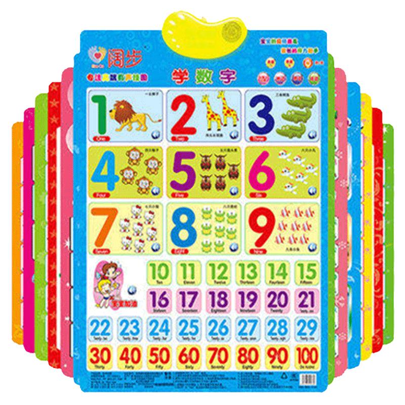 阔步拼音有声挂图早教发声儿童看图识字墙贴宝宝启蒙语音认知玩具