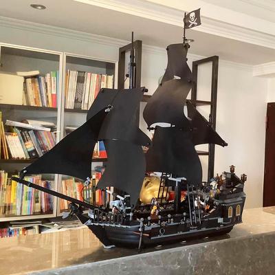乐高加勒比海盗船黑珍珠号模型成年大型拼装玩具积木益智儿童礼物