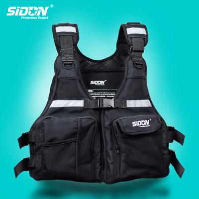 SIDON fishing life jacket, water-repellent, wear-resistant, lightweight and portable vest, strong buoyancy, multi-functional fishing vest