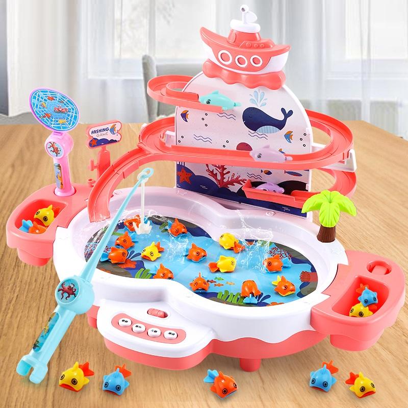 儿童钓鱼玩具套装开发智力一两三周宝宝2-3-4岁5益智生日礼物女孩