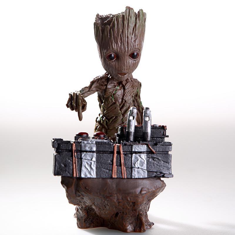 现货!手办 银河护卫队2 小树人格鲁特场景按炸弹树怪 雕像手办