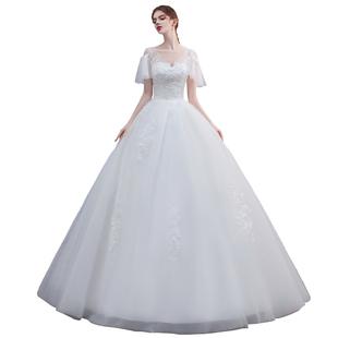韓式輕婚紗2020新款新娘森系超仙夢幻氣質春季婚紗裙簡約抖音網紅