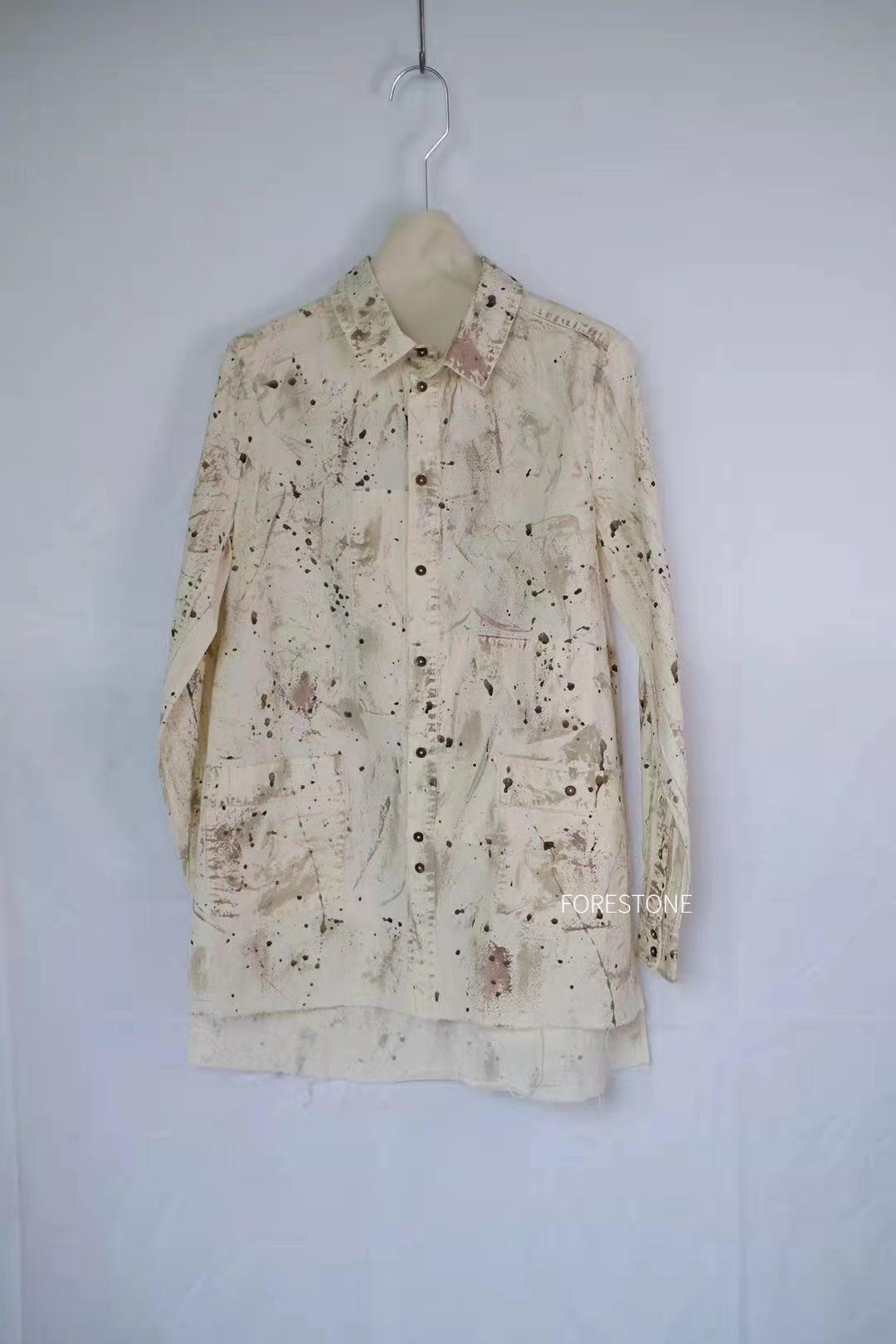 Aleksandr manamis Danish brand white spotted shirt forestone brush stone