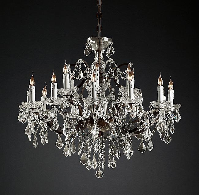 美式简约水晶北欧创意个性复古吊灯