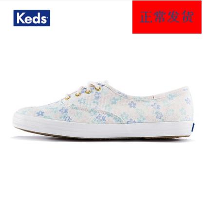 Keds 春夏联名款印花女士帆布低帮休闲鞋时尚清新百搭板鞋WF57981