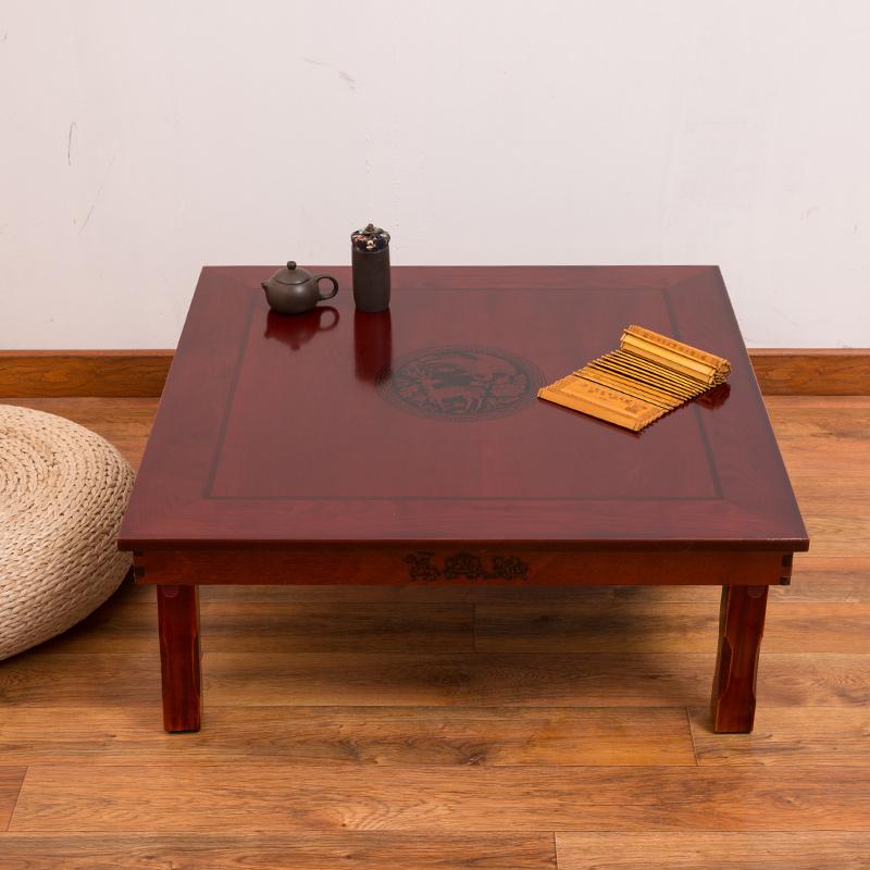 韩式折叠桌炕桌榻榻米方桌家用饭桌飘窗茶几小桌子日式地桌矮餐桌